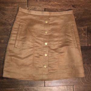 H&M NWT Faux Suede Tan Skirt